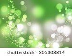natural spring forest bokeh. | Shutterstock . vector #305308814
