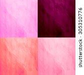 set of 4 watercolor backgrounds.... | Shutterstock .eps vector #305310776