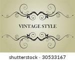 vintage frame | Shutterstock .eps vector #30533167