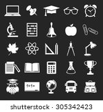 back to school. collection of... | Shutterstock . vector #305342423