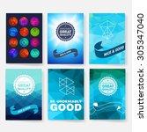 template. set of poster  flyer  ... | Shutterstock .eps vector #305347040