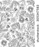 Coloring Page  Floral Design