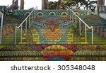 lincoln park steps  public... | Shutterstock . vector #305348048