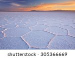 the world's largest salt flat ... | Shutterstock . vector #305366669