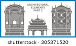 traditional architectural... | Shutterstock .eps vector #305371520