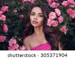 fashion style beauty romantic... | Shutterstock . vector #305371904