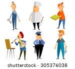 vector illustration of a six... | Shutterstock .eps vector #305376038