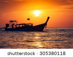 Fishing Boat With Sunset In Ph...