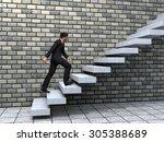 concept or conceptual 3d male... | Shutterstock . vector #305388689