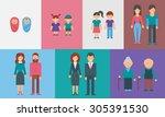 childhood  adolescence ... | Shutterstock .eps vector #305391530