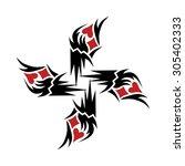 tribal tattoo vector design... | Shutterstock .eps vector #305402333
