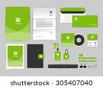 corporate identity template for ... | Shutterstock .eps vector #305407040
