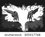 beyond good and evil   vector... | Shutterstock .eps vector #305417768