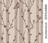 vector seamless floral  texture ... | Shutterstock .eps vector #305426888