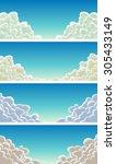 cloudscape set on blue sky...
