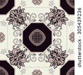 Geometric Tile Pattern. Floral...