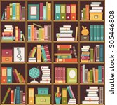 Seamless Pattern With Books On...
