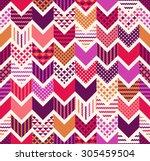 seamless colorful arrow chevron ...   Shutterstock .eps vector #305459504