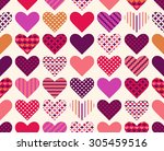 Seamless Colorful Love Heart...
