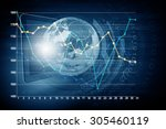 global connection concept with... | Shutterstock . vector #305460119