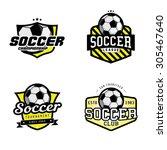 set of soccer league  ...   Shutterstock .eps vector #305467640