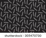 black stylized leaf pattern.... | Shutterstock .eps vector #305470730