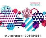 horizontally seamless vector... | Shutterstock .eps vector #305484854