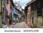 Street With Half Timbered...