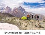 Alpine Climbers Team And Camp....