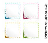 set of vector coupons with cut... | Shutterstock .eps vector #305500760