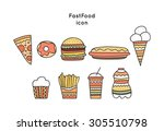 fast food icon   Shutterstock .eps vector #305510798