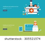 flat design modern vector... | Shutterstock .eps vector #305521574