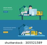 flat design modern vector... | Shutterstock .eps vector #305521589