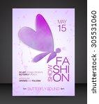 vector stylish banner  poster... | Shutterstock .eps vector #305531060