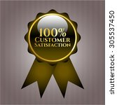 100  customer satisfaction... | Shutterstock .eps vector #305537450