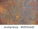 wheathered rust and scratched... | Shutterstock . vector #305542640