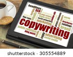 copywriting word cloud on a... | Shutterstock . vector #305554889