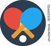 ping pong | Shutterstock .eps vector #305559953