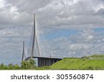 view of the large cable stayed... | Shutterstock . vector #305560874
