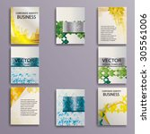abstract brochure design... | Shutterstock .eps vector #305561006