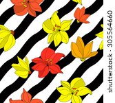 vector illustration of floral... | Shutterstock .eps vector #305564660