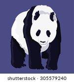 cute panda vector | Shutterstock .eps vector #305579240