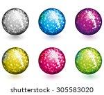 disco balls | Shutterstock .eps vector #305583020
