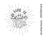 card with hand drawn typography ... | Shutterstock . vector #305584163