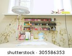 interior of a manicure office | Shutterstock . vector #305586353