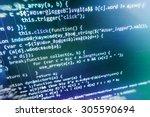software developer programming... | Shutterstock . vector #305590694
