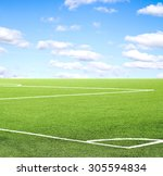football field against the sky | Shutterstock . vector #305594834