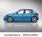 car vehicle transportation 3d... | Shutterstock . vector #305613083