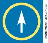arrow axis y vector icon. this...   Shutterstock .eps vector #305614013