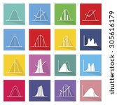 flat icons  illustration set of ... | Shutterstock .eps vector #305616179